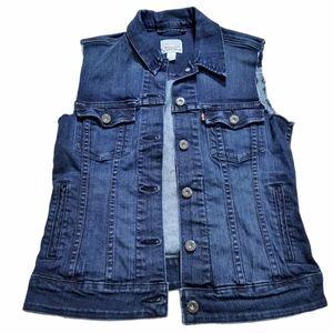 Levi's Strauss & Co Denim Jean Jacket Vest S/P
